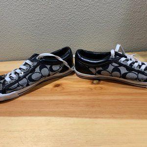 Coach Shoes - Black and White Coach Tennis Shoes